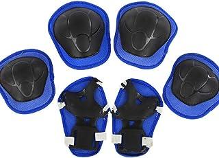 Ogquaton 6 PCS Enfants Roller Protector Premium Patinage Vêtement De Protection Genou Poignet Coude Pads pour Vélo Skateboard Utilisez Bleu