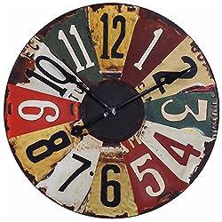Uttermost 06675 Vintage License Plates Clock