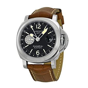 77ae3624046 Image Unavailable. Image not available for. Color  Panerai Men s PAM00088  Luminor GMT Black Dial Watch