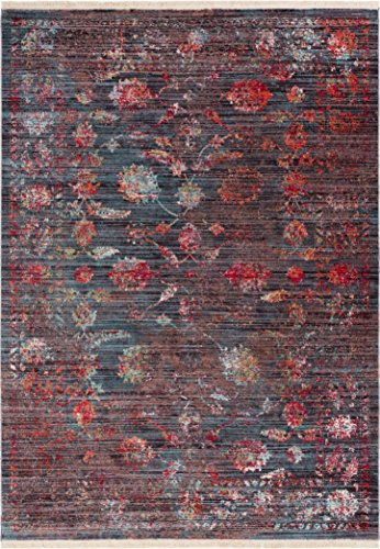 Antique 8x10 Area (Artemis Brown Modern Vintage Floral Traditional Area Rug 8 x 10 (7'10