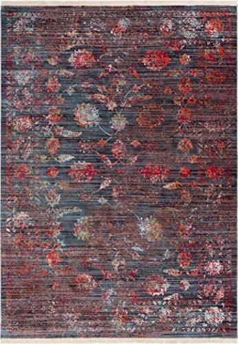 - Artemis Brown Modern Vintage Floral Traditional Area Rug 4 x 6 (3'11