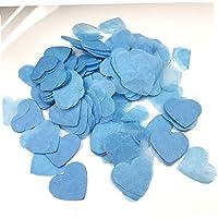 Colorful Confetti Romantic Love Heart Confetti bröllopsfest Decor Props för Home Blue 2.5cm
