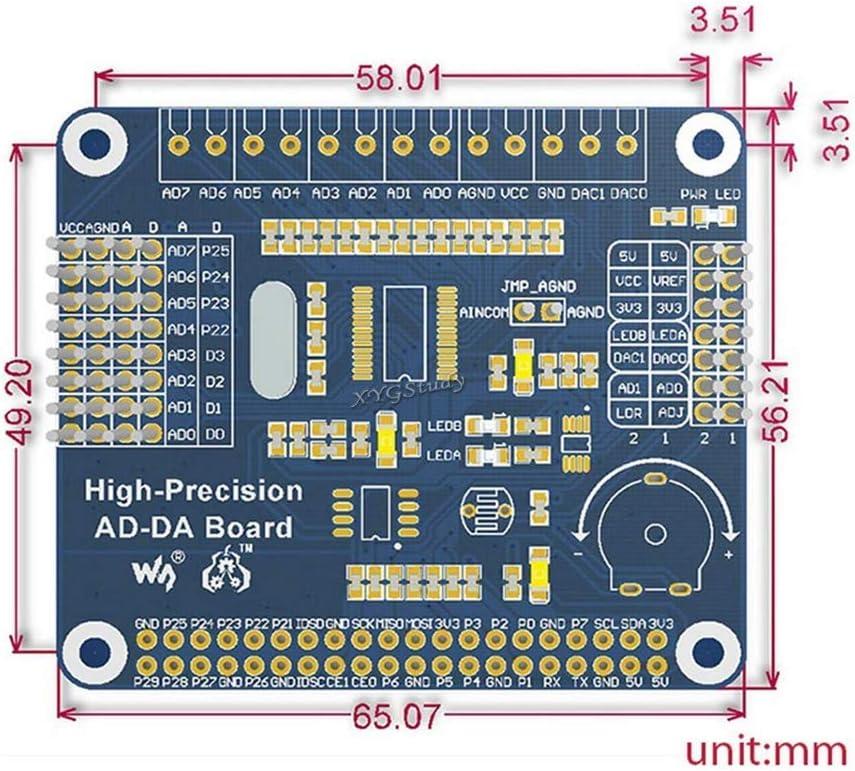 A High-Precision AD//DA Expansion Module Onboard ADS1256 DAC8532 for Raspberry Pi 4 3 2 Model B B @XYGStudy