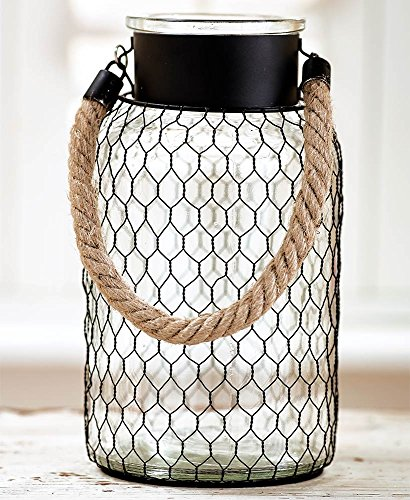 - The Lakeside Collection Large Chicken Wire Glass Vase