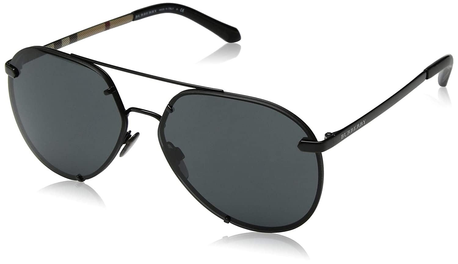 cd956a68362 Amazon.com  Burberry Women s 0BE3099 Black Grey One Size  Clothing