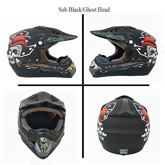 ,A,S S, M, L, XL Wansheng Adult Off Road Helm Dot Dirt Bike Motocross ATV Motorrad Offroad