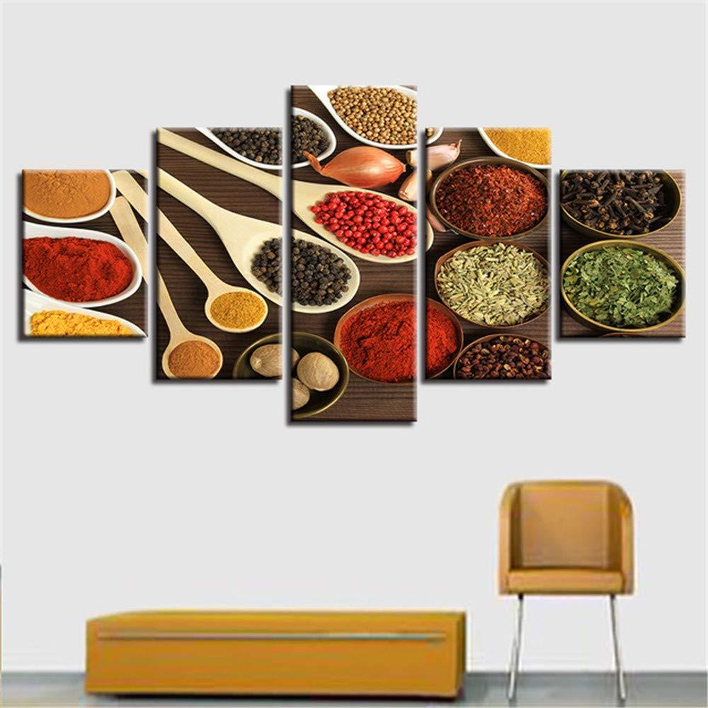 Alicefen Lebensmittel Getreide Kreative Fünf Stücke Leinwand Drucke Malerei Hauptwanddekor Moderne Raum Kunst Für Wohnzimmer Gerahmt B07M7TYV88 | Erste in seiner Klasse