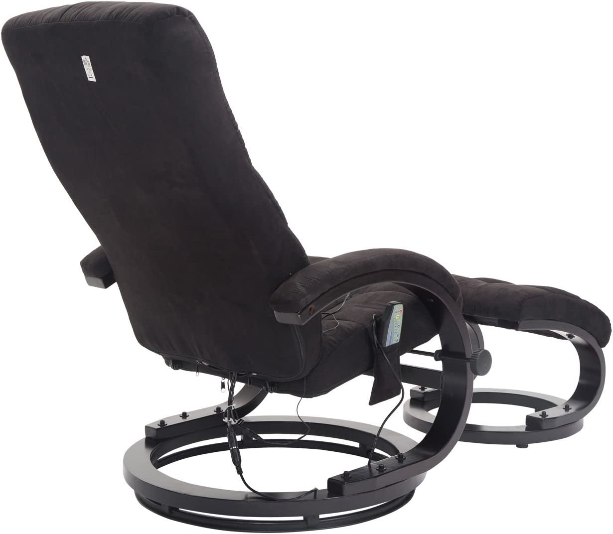 Homcom/® Massagesessel TV Sessel Relaxsessel mit Hocker Fernsehsessel mit Heizfunktion und Vibration 2 Farben Schwarz