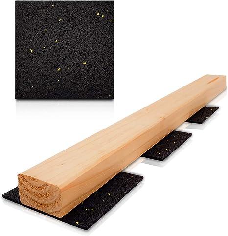 100 x 50 x 6 mm Menge: 100 St/ück Terrassenpads I gummipad I Unterleger aus Gummigranulat f/ür Terrassenholz Terrassendielen