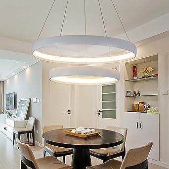 LED Pendelleuchten Modern Elegant 2 Ring Runden Entwurf Pendellampe  Hängelampe Für Schlafzimmer Wohnzimmer Küche Insel Esszimmer