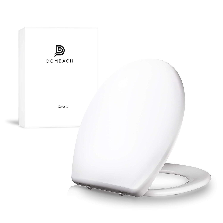 Dombach Celesto Toilettendeckel • der innovative Premium WC-Sitz in weiß mit Softclose/Absenkautomatik • Quick-Release • Antibakteriell • Duroplast und rostfreier Edelstahl • WC-Brille • WC-Deckel Profargo