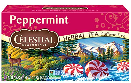 (Celestial Seasonings Herbal Tea, Peppermint, 20 Count (Pack of 6))