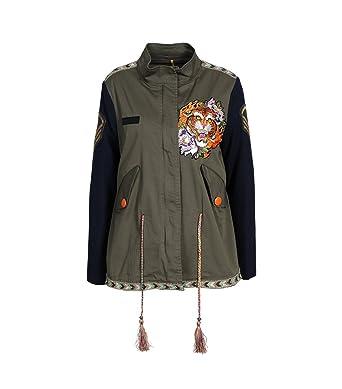 bis zu 60% sparen 60% Freigabe Wählen Sie für authentisch HISTORY REPEATS Damen Jacke mit Patch dunkelgrün: Amazon.de ...