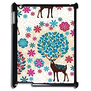Cute deer Pattern Hard Case Cover Back Skin Protector For For iPad Case 2,3,4 color5