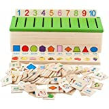 Grizzly Montessori Educational Wooden Game Recognition Toy Baby Kids Early Learning Classification Box Toys