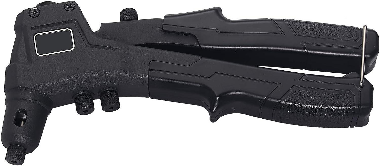 funziona con rivetti in alluminio acciaio e acciaio inossidabile rivetto 200PZ AUTOUTLET Rivettatrice pistola manuale per rivetti da 8 pollici 4 pezzi inclusi