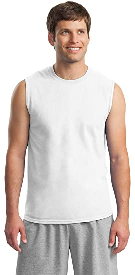 22a8cd577874 Image Unavailable. Image not available for. Color: Gildan Ultra Cotton 6  oz. Sleeveless T-Shirt ...