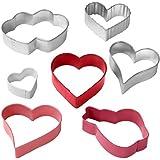 Wilton 7 Piece Heart Shaped Cookie Cutter Set