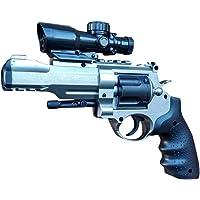 IndusBay® 2 in 1 Soft Bullets and Water Crystal Bullets PUBG Handgun Pistol Toy Gun - Police Revolver Ingram Toy Gun Toy for Kids