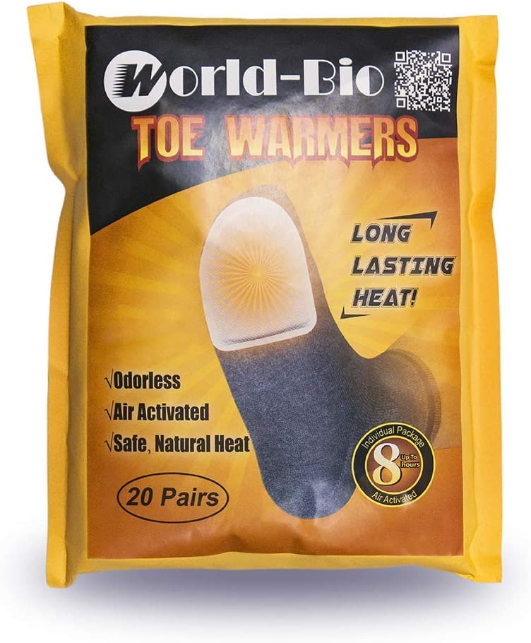 Disposable Toe Foot Warmers Heating Pads Adhesive Thin Mini Patch Keep Warm,Great for Hiking Camping Fishing Outdoor Activities. Toe Warmer 20 Pairs