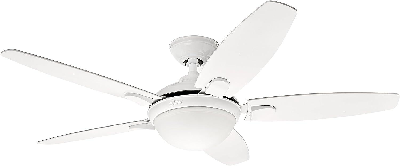 Hunter Fan Contempo Ventilador de techo con luz blanco E27, 20 W, 132 cm