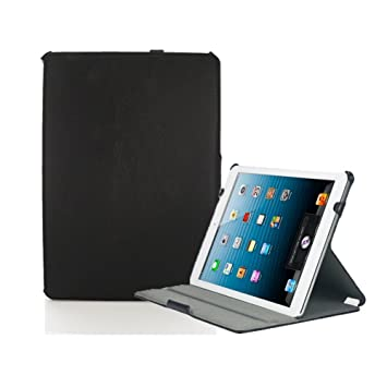 KHOMO® FUNDA EJECUTIVA PIEL NEGRA iPad Air 2 Doble Protección con Soporte Ajustable y Smart Cover Apple iPad AIR 2