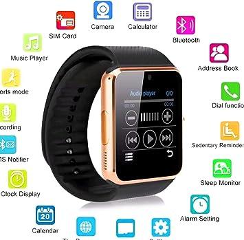 Smartwatch andriod, cámara, reproductor de música, SIM / TF ...