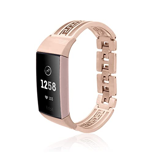Bangle BAY for Fitbit Charge 3 by fitjewels - Silver or Rose Gold finish -  stainless steel - Jewelry for Fitbit Charge 3 (No Tracker)