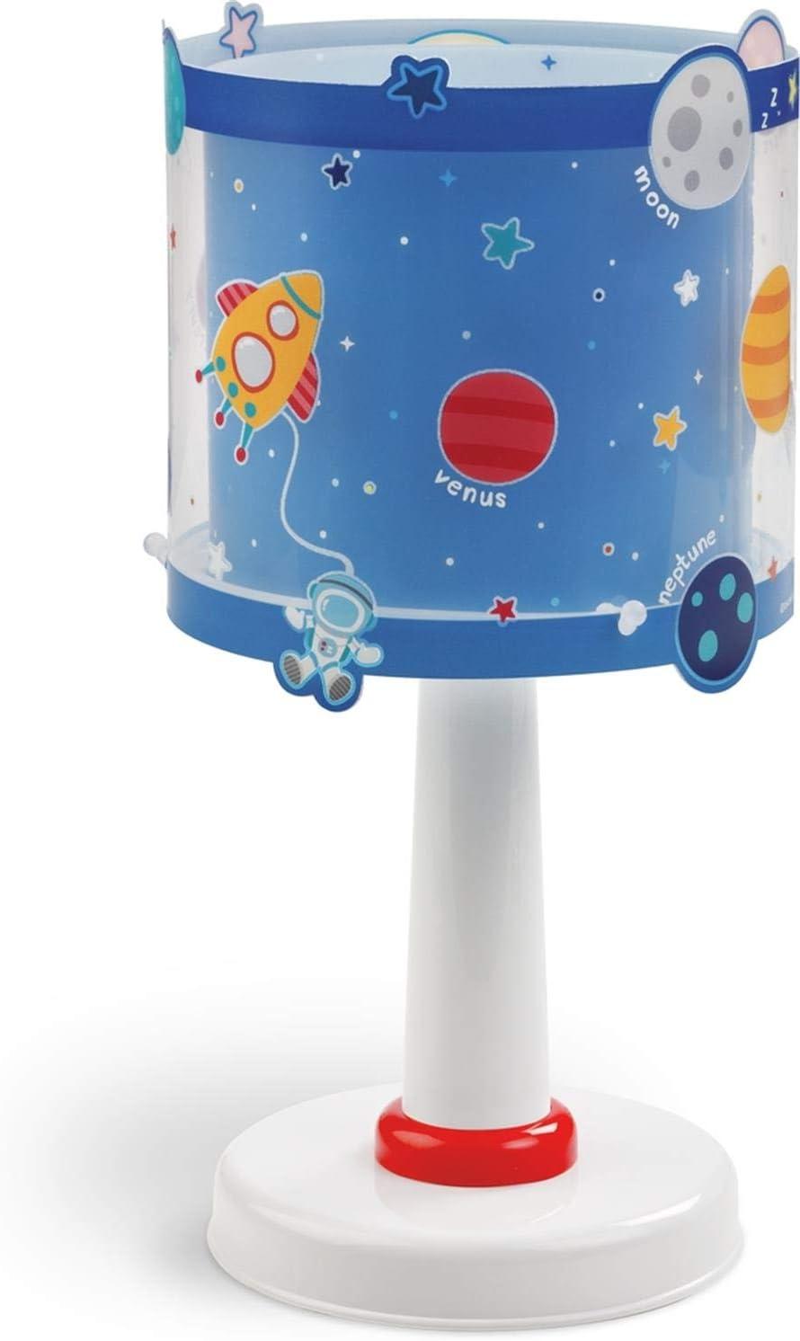 Dalber Lámpara infantil de Mesilla Planets Planetas Azul, 15 x 15 ...
