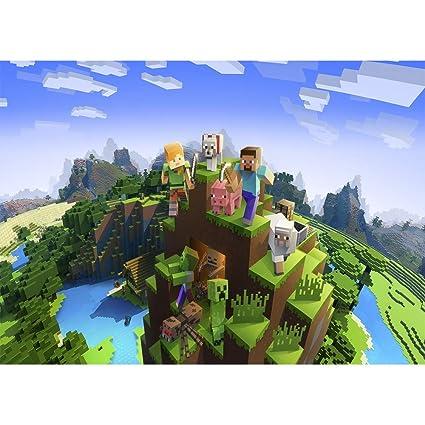 Fondo de fotografía con diseño de Minecraft de 7 x 5 pies ...