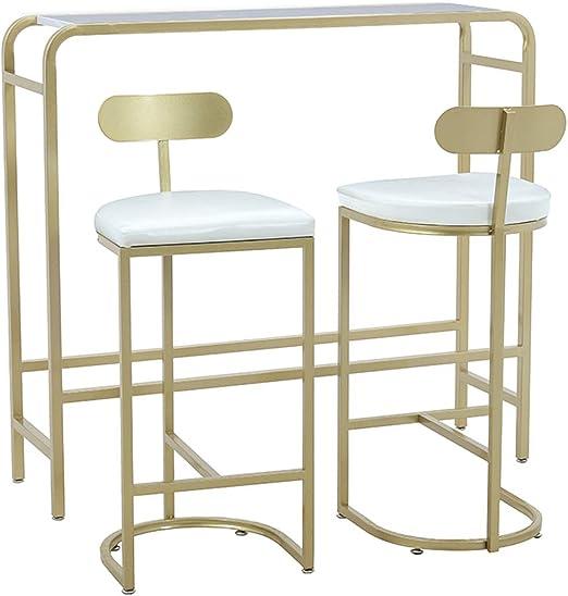 Lxn Simplicidad moderna Mesa de bar, mesa de comedor Golden Pub ...
