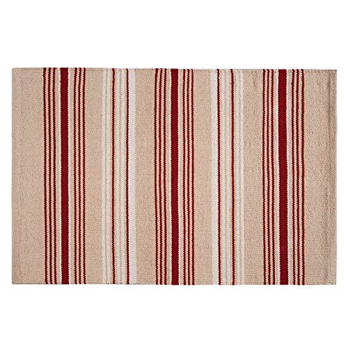 (C&F Home 44437010 French Red Stripes Woven Rug,)