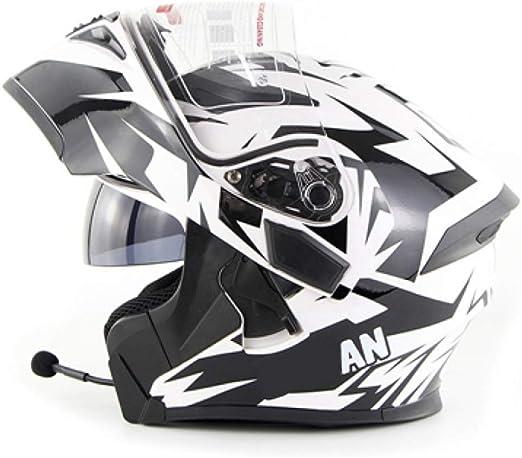Rmckj Q Casco Moto Modular Hombre Bluetooth S XXL 55 64cm