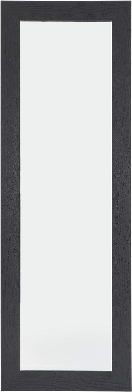 Home Selections Miroir Mural en Bois Massif 40 x 120 cm Noir 40 x 120 cm
