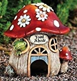 Roman 7.5″ Whimsical Toad Abode Mushroom House Outdoor Garden Statue Decoration