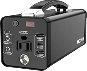NEXPOW Portable Power Station, 178Wh Solar Generator