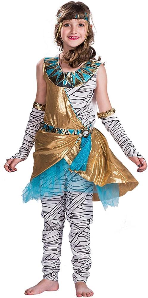 A&J DESIGN Disfraz Momia Niña Traje Egipcio Vestido sin Mangas ...