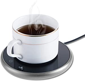Coffee Mug Warmer,Smart Cup Warmer for Desk Beverage,Electric Beverage Tea Warmer with Timing & Temperature Control,Coffee Warmer Plate for Coffee Tea Water Milk
