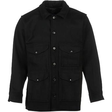 2b99cd64f67d4 Filson Mackinaw Wool Cruiser Jacket Black - 44: Amazon.co.uk: Clothing