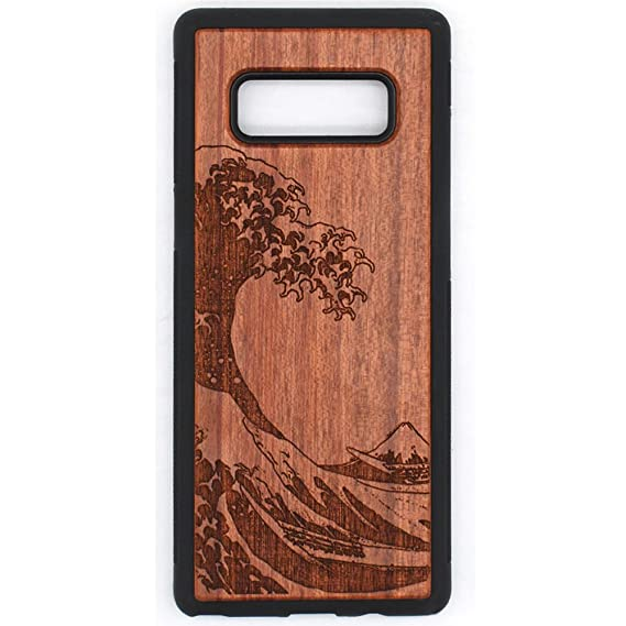 differently 4b08c 15e4a Amazon.com: Wood Case for Galaxy NOTE 8, Wood Pattern [Laser ...