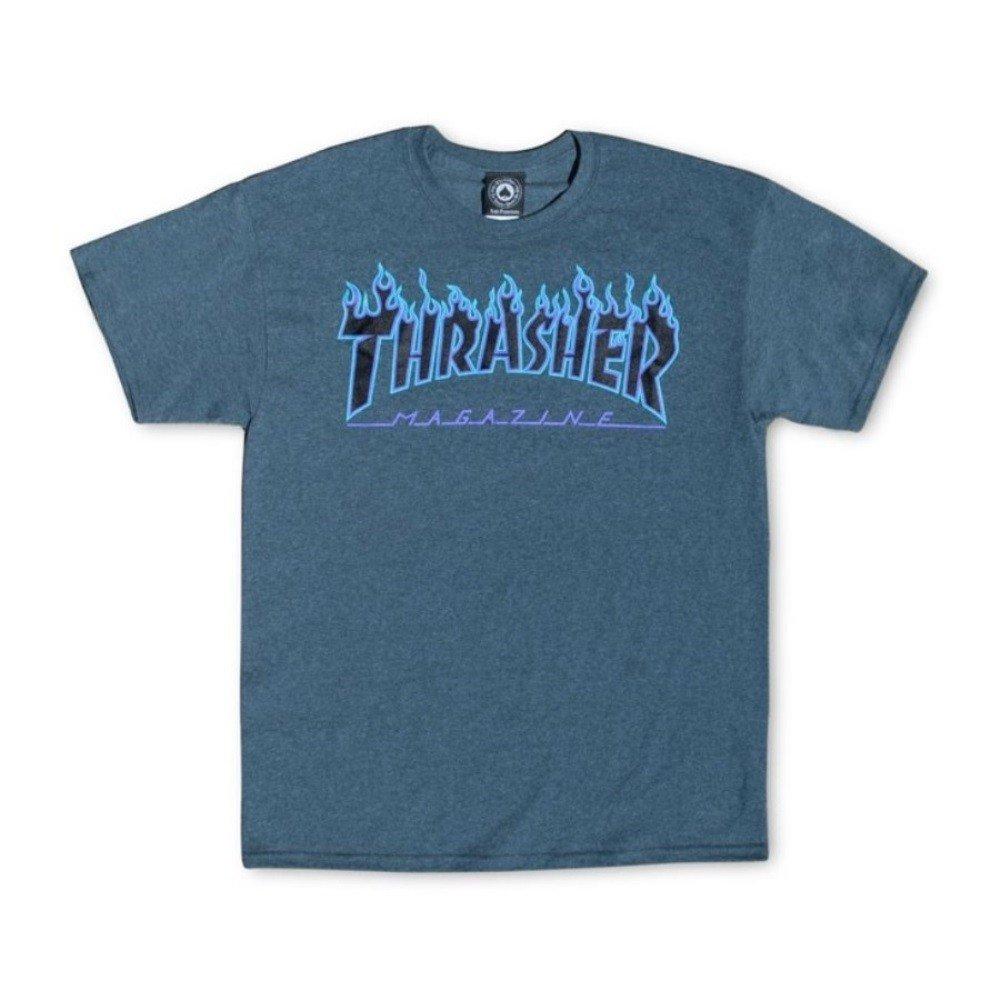 Thrasher - Camiseta - para hombre, Oscuro Heather Gris, X-Large: Amazon.es: Ropa y accesorios