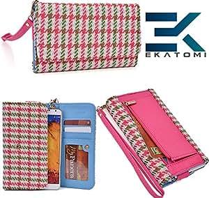 Wallet Phone Clutch Cover Phone Case- PINK GREEN | Nokia Lumia 1520 Ekatomi Screen Cleaner &153;