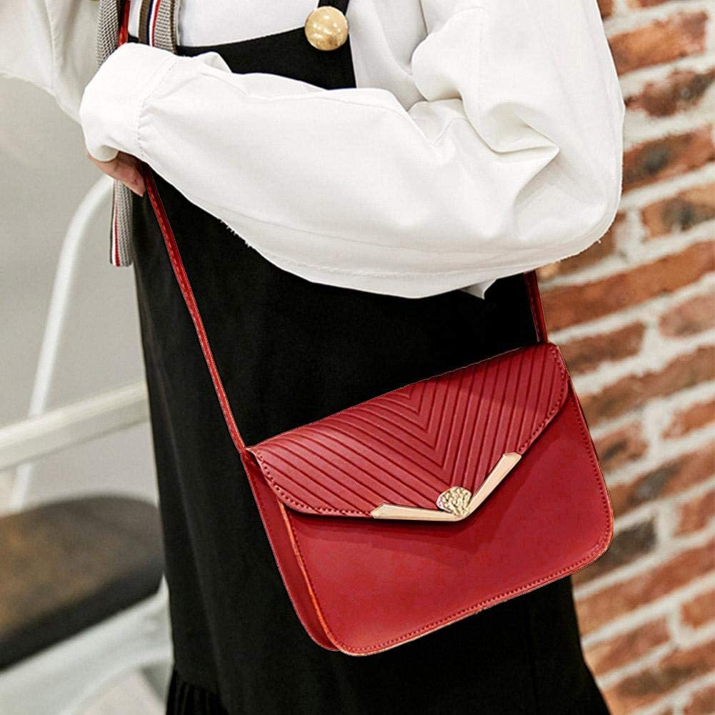 Amazingdeal Shoulder Messenger Handbags Women PU Leather Crossbody Twill Satchel Bags