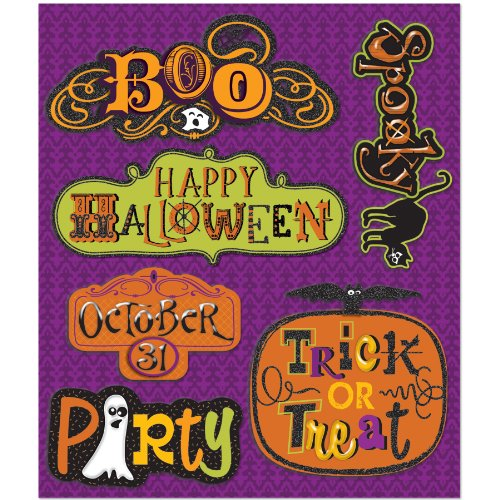 K&Company Halloween Words Sticker Medley (The Words Halloween)