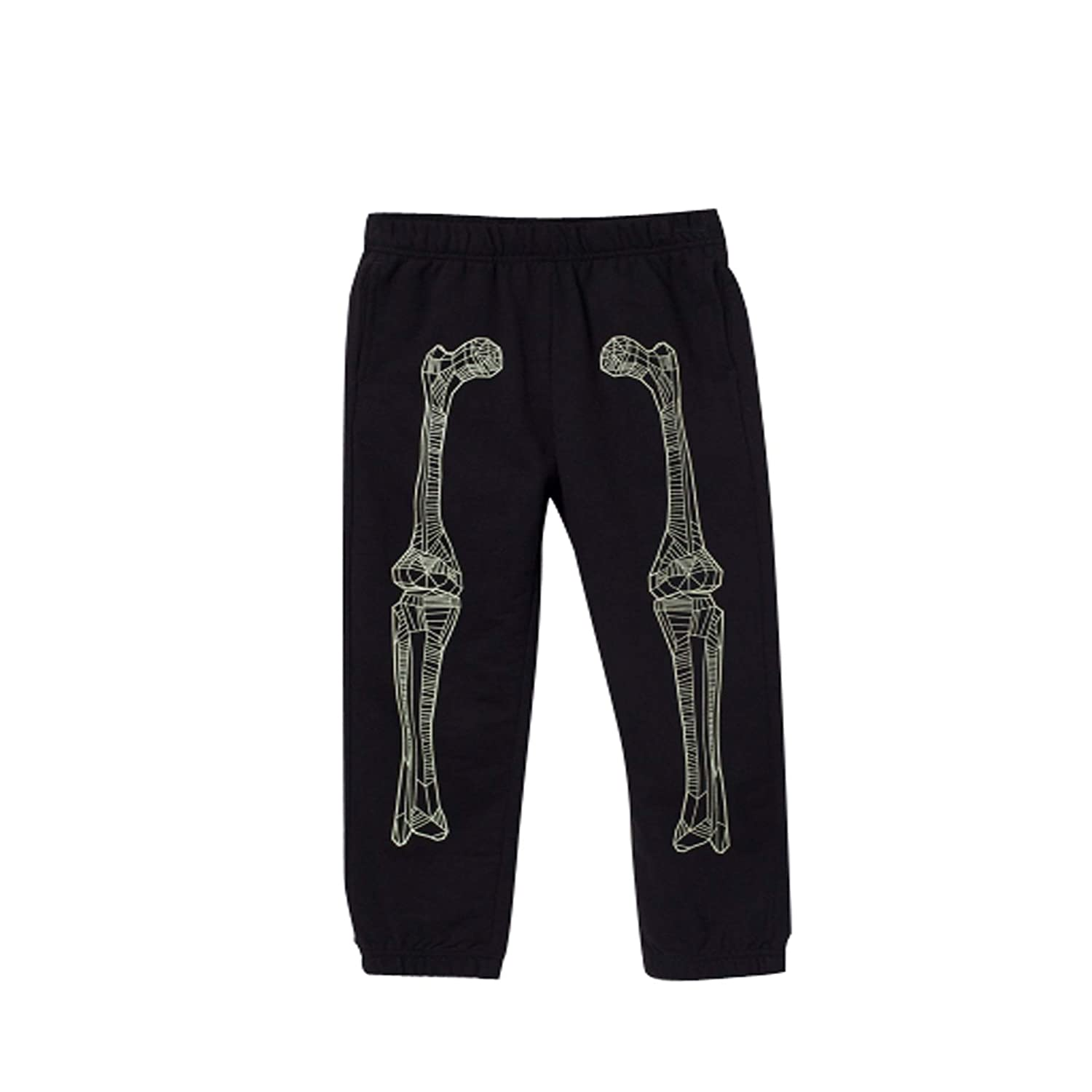 LYM Bossini Boys Spring Festival Skeleton Print Knit Pants for Party or Everyday Wear