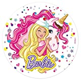 Barbie Edible Image Cake Topper Wafer Disc 8