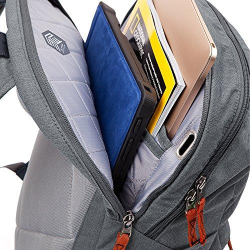 STM Banks Backpack For Laptop & Tablet Up To 15'' - Tornado Grey (stm-111-148P-20) by STM (Image #3)