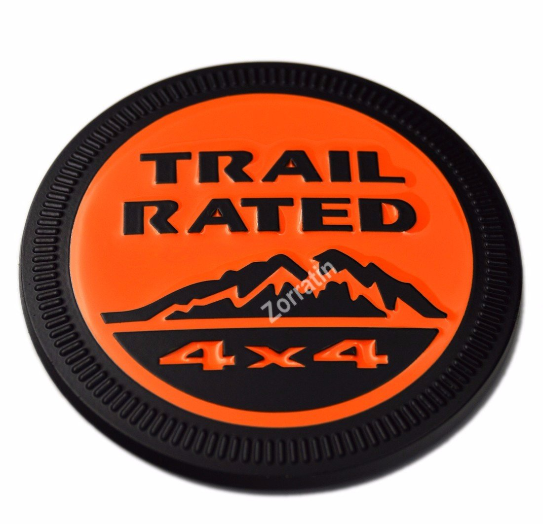 zorratin Metal Trail Rated 4x4 Round Emblem Badge for Jeep Wrangler Unlimited JK Cherookee Rubicon Liberty Patriot Latitude Dusty Pink