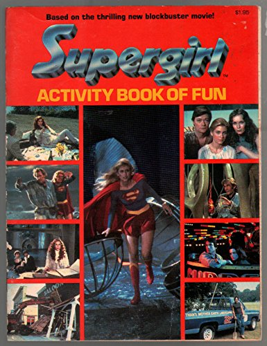 Supergirl Activity Book of Fun 1984-Helen Slater photo cover-puzzles-games-VG/FN