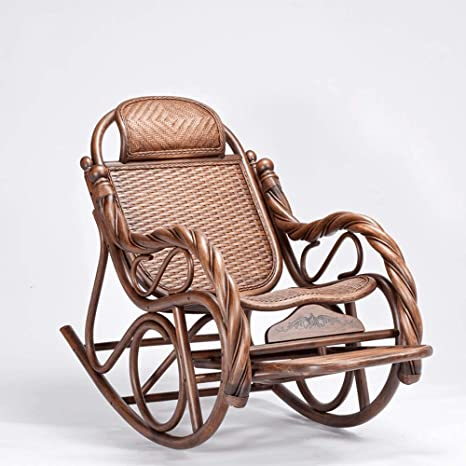 Super Amazon Com Luxury Rattan Wicker Rocking Chair Wood Lounger Spiritservingveterans Wood Chair Design Ideas Spiritservingveteransorg